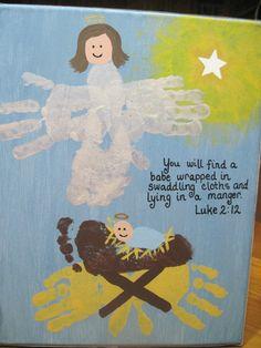 handprint manger scene -