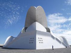 Auditorium in Santa Cruz de Tenerife (Canary Islands, Spain), designed by Santiago Calatrava.