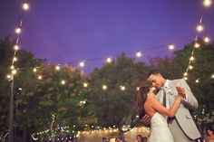 first dance under a beautiful deep blue sky and fairy lights http://su.pr/19rqmj photos by Orange Turtle Photography
