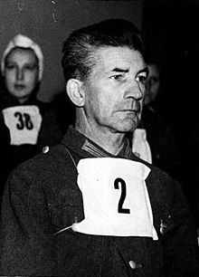 Fritz Klein (November 24, 1888 – December 13, 1945) was a German Nazi physician hanged for his role in atrocities at Bergen-Belsen concentration camp during the Holocaust.