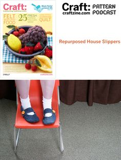 house slippers from old jeans. add sole for out and about?