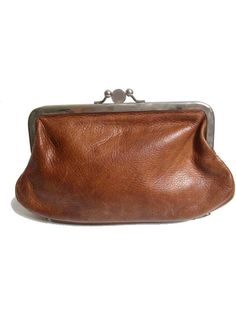 french WALLET money purse  brown leather art deco by lesclodettes, $55.00