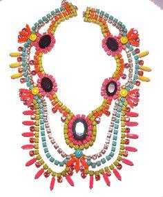 #jewelry #necklace #statement #stones #modern #ethnic #fashion #unique #fabulous #colorful