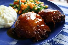 Peach Whiskey BBQ Chicken