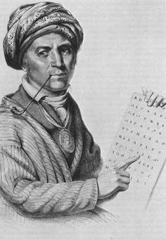 native american cherokee indian pictures | Fig. 7. The Lord's Prayer, from the Cherokee Bible, using Sequoyah ...