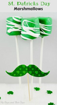 St. Patrick's Day Candy Dipped Marshmallows