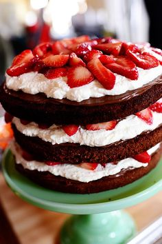 The Pioneer Woman - Strawberry Chocolate Layer Cake Food Network Show