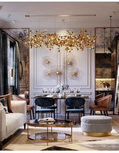 Discover the perfect golden lighting fixture for your next interior design project at luxxu.net #golden #homedecor #lighting #furniture #luxury #interiordesign #inspirational #design