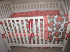 lotus morning glory custom baby bedding by babylovin on etsy, $275.00