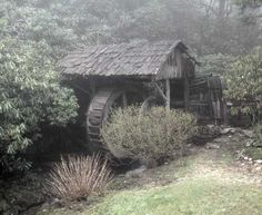 Built in 1851 this is the back of Lick Log Mill, Dillard, Macon Co., NC.