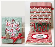 Fabulous card by Frances Byrne using the A2 Pop 'n Cuts Base, Noel Insert, Noel Sizzlits Set and Wavy Labels Framelits. Adore this!