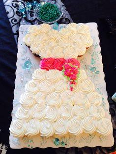 Wedding dress cupcakes for bridal shower