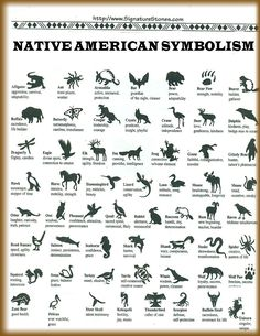 Native American symbolism poster