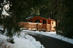 Cabin camping during the winter months at William Heise County Park. To make camping reservations visit www.sdparks.org.