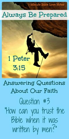 Third in the series of questions about our faith. For a 1-minute answer to this question, click the image and when it enlarges, click again.