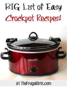 BIG List of Easy Crockpot Recipes! Some easy recipes and only 2-3 ingredients!