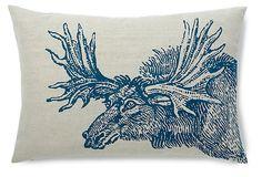 Moose  Linen Pillow
