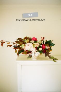 DIY Thanksgiving Centerpiece  Read more - http://www.stylemepretty.com/living/2013/11/21/diy-thanksgiving-centerpiece/