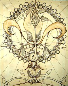 Fleur de Lys   Sepia by wantonlemonade on deviantART