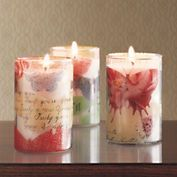 Butterfly Decoupage Candles