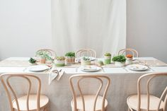 Donna Wilson inspired tablescape with DIY planters by Matthew Robbins