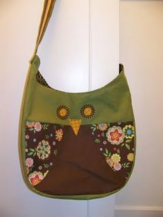 Owl bag craft, sewing projects, purs, owl bag, bag tutorials, bag patterns, tote bags, sewing tutorials, sewing patterns