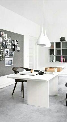 Big desk, pin up wall