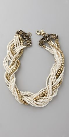 Braided necklace.