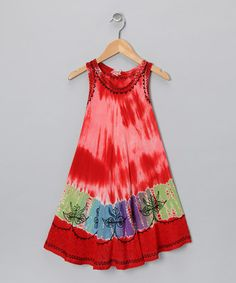 Red, Blue & Gold Patchwork Dress | Daily deals for moms, babies and kids