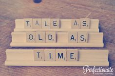 Tale As Old As Time scrabble sign // Disney Beauty and the Beast inspired sign // Disney Theme Wedding // Disney Wedding Theme