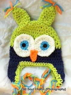 Baby boy owl hat- love!