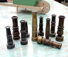 Vintage Brass Garden Hose Nozzles