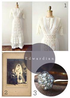 Edwardian wedding inspiration board that I curated for @Etsy     https://www.etsy.com/blog/en/2013/love-my-dress/