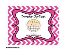 Chevron Behavior Clip-chart with Behavior Calendar and explanation of how it is used