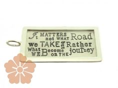 Heather Moore 'It matters not what road...' ID tag   Be On Park    www.beonpark.com