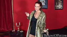 This week's fur fetish scene at The Love The striking Ashleigh Embers as your date from a special evening out. Inviting you to her bedroom, you stand chatting for a while, admiring her gorgeous ocelot coat and tight black dress underneath it while she lights up a cigarette.