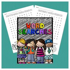 12 Months of Word Searches – FREE! for a limited time from #sponsor @educents #homeschool #homeschoolfreebies