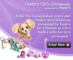 Enter the SweepstakesLovers.com Hasbro Girls Giveaway presented by Hasbro for a chance to win a Hasbro Gifts for Girls prize pack !    http://www.sweepstakeslovers.com/our-giveaways/sweepstakeslovers-com-hasbro-girls-giveaway-presented-by-hasbro/