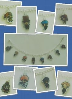 Professor layton charm bracelet! I want to get this (^o^)/