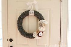 DIY wreath action