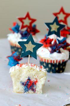 "Firecracker ""Surprise"" Cupcakes"