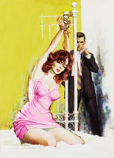Odds Against Linda, paperback cover by Barye Phillips, 1960