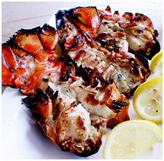 Grilled Lobster Tails Recipe Grilled Lobster Tail Recipe, Grilling Seafood, Chilis, Grilling Lobster Tails, Barbecues, Lobsters, Grills, Grill Lobster, Grilled Seafood Recipes