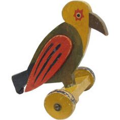 Old Wooden Pulltoy Car