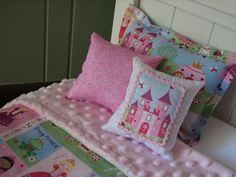 "Princess Bedding Set for American Girl Doll or similar 18"" dolls. $27.00, via Etsy."