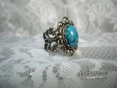 vintage turqoise ring