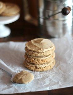 Brown sugar cookies with brown sugar frosting