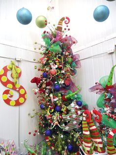 Love the glittery ball sprays and plush items. They really make this tree come to life and pop. Just wire plush to the tree, and tuck in sprays. Once you build the foundation with lights and decor mesh or ribbon, put on your ornaments, then the sprays should tuck here and there for color and impact.