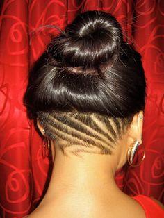 tattoo idea, nape undercut, undercut designs, bun undercut, beauti ...