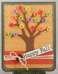 Fall Card, cute use of buttons